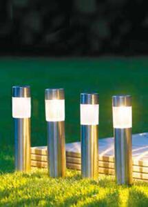 4er-Set Edelstahl-Solarlampen