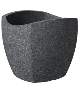 Scheurich Kunststoff-Topf Wave Globe Cubo, schwarz-granit