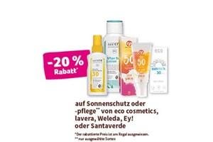 eco cosmetics -20 % Rabatt