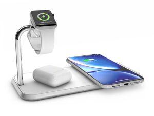 ZENS Aluminium Dual Charger + Watch, für iPhone und Watch, weiß