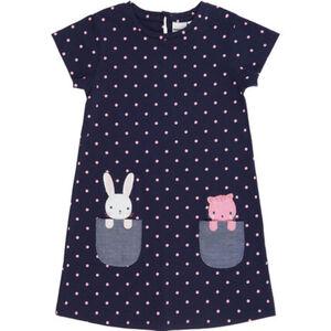 MANGUUN Kleid, Punkte-Allover-Print, Taschen, Animal-Applikation, für Mädchen
