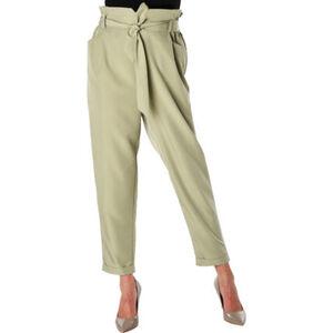 MANGUUN Collection Paperbag Stoffhose, Bindegurt, elastischer Bund, für Damen