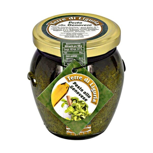 Pesto Genovese oder Rosso aus Ligurien jedes 180-g-Glas