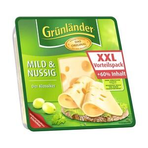 Grünländer Scheiben XXL Vorteilspack Deutscher Hart- und Schnittkäse, 48% Fett i. Tr./17 % Fett absolut,  versch. Sorten, jede 210/240-g-Packung