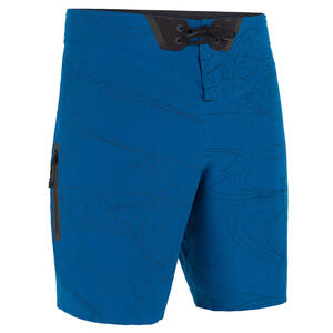 Boardshorts Surfen Standard 900 Embossed blau