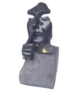 Dehner Polyresin-Gartenbrunnen Mask, ca. B39,5/H78,8/T28 cm