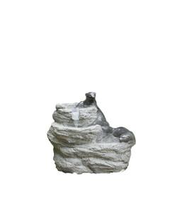 Dehner Polyresin-Gartenbrunnen Otter, ca. B60,5/H50/T39,5 cm