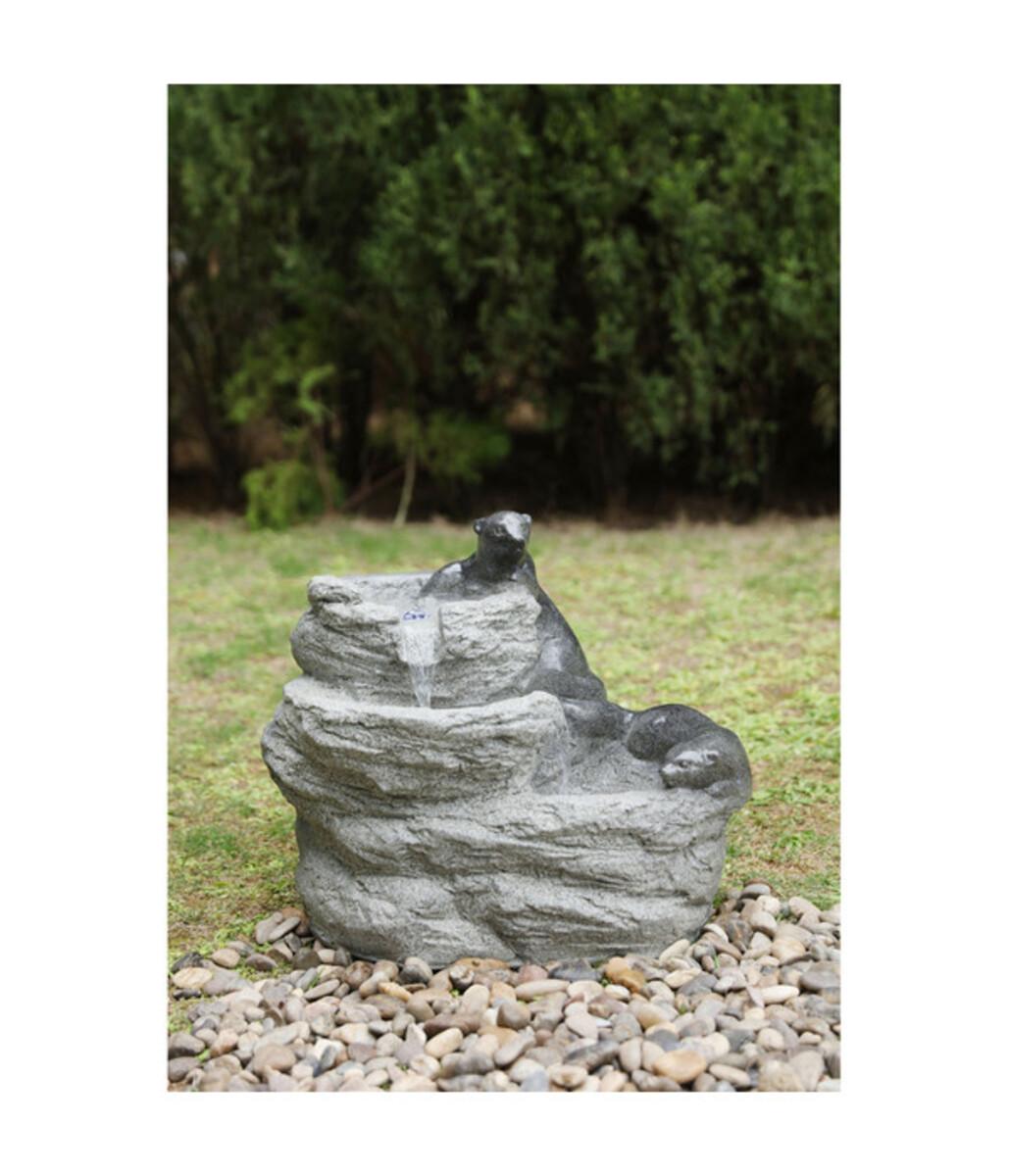 Bild 2 von Dehner Polyresin-Gartenbrunnen Otter, ca. B60,5/H50/T39,5 cm