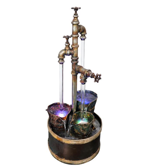 Dehner Metall-Gartenbrunnen Magic, ca. Ø37,5/H94 cm