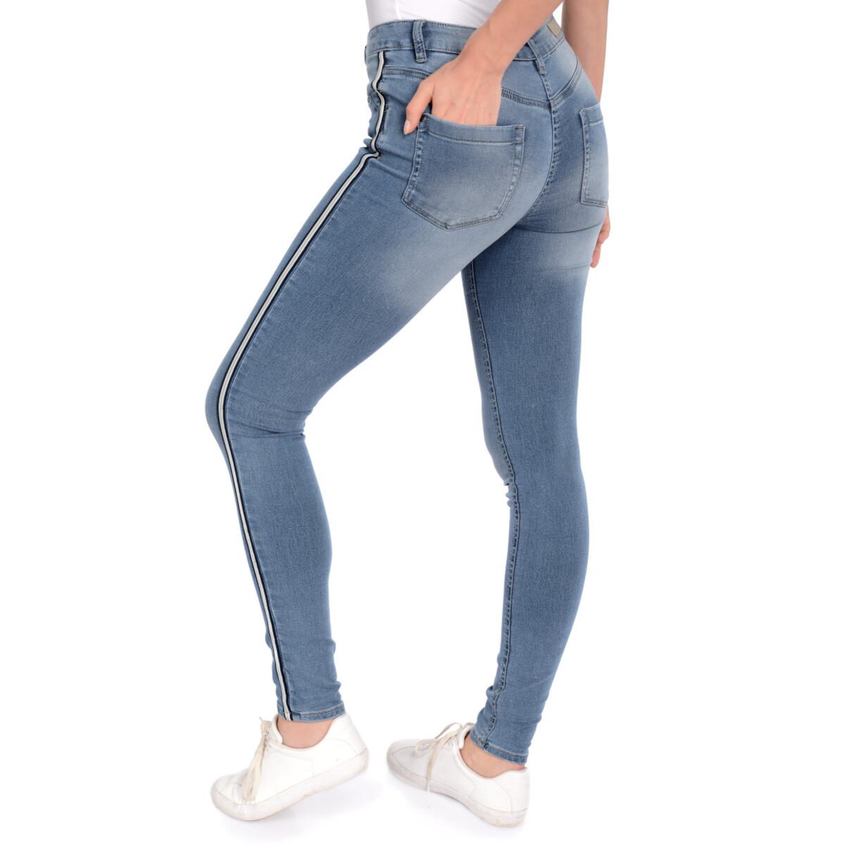 Bild 4 von Damen Slim-Jeans mit Galonstreifen