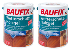 BAUFIX Wetterschutz-Holzgel teak 2-er Set
