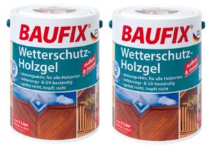 BAUFIX Wetterschutz-Holzgel tannengrün 2-er Set