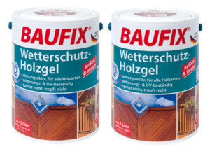 BAUFIX Wetterschutz-Holzgel palisander 2-er Set