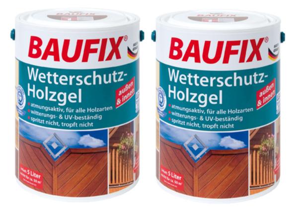 BAUFIX Wetterschutz-Holzgel nussbaum 2-er Set