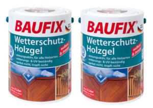 BAUFIX Wetterschutz-Holzgel mahagoni 2-er Set