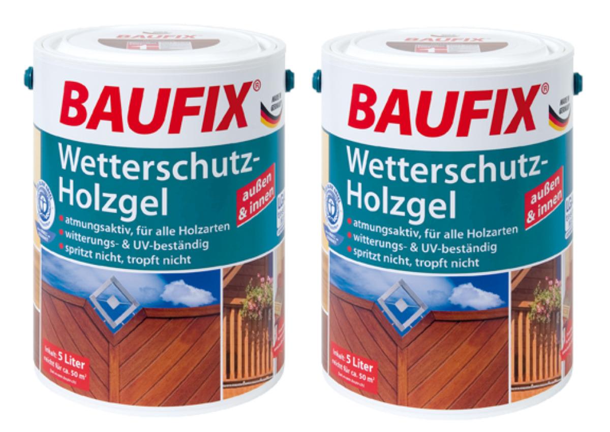 Bild 1 von BAUFIX Wetterschutz-Holzgel mahagoni 2-er Set