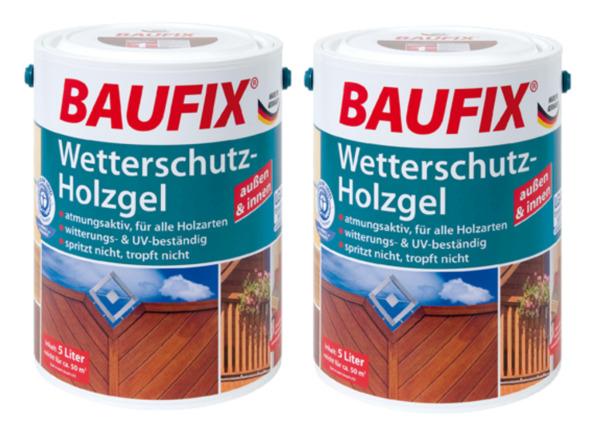 BAUFIX Wetterschutz-Holzgel kastanie 2-er Set