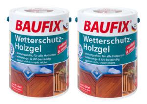 BAUFIX Wetterschutz-Holzgel farblos 2-er Set