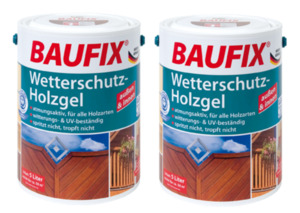 BAUFIX Wetterschutz-Holzgel eiche hell 2-er Set