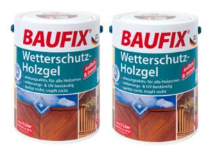 BAUFIX Wetterschutz-Holzgel ebenholz 2-er Set