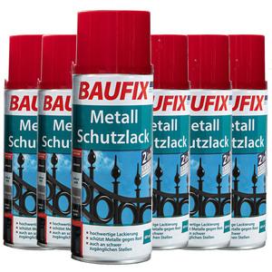 Baufix Metallschutzlack - Rot 6-er Set