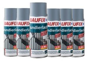 Baufix Grundierlack - Grau 6-er Set