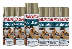 Baufix Goldlack 6-er Set
