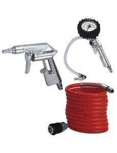 Druckluft-Profi-Set, bis zu 8 bar, mit Reifenfüllmesser