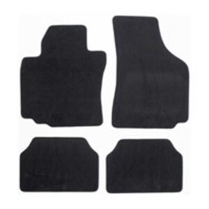 Textil-Fußmatten High-Class Gr. 3 im 4-teiligem Set, schwarz