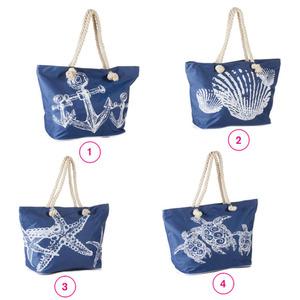 Strandtasche 55 x 40 x 23 cm Muscheln in verschiedenen Varianten