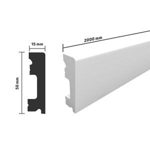 Sockelleiste 2000 x 15 x 50 mm weiß