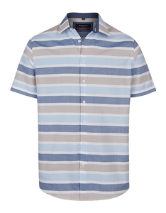 Bexleys man - Freizeithemd, kurzarm, horizontal gestreift