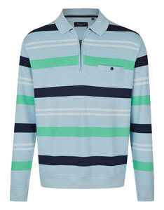 Bexleys man - Polo-Sweatshirt gestreift