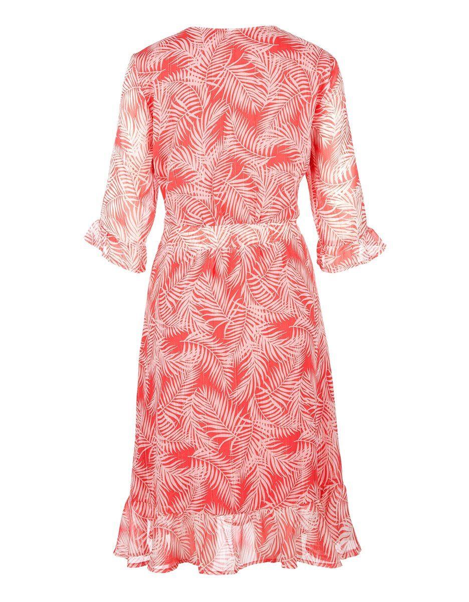 Bild 2 von s. Oliver - Crepe-Kleid mit Volants und Farndruck