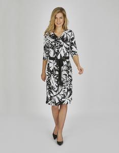 Bexleys woman - Jerseykleid mit Bindeband und Allover-Druck