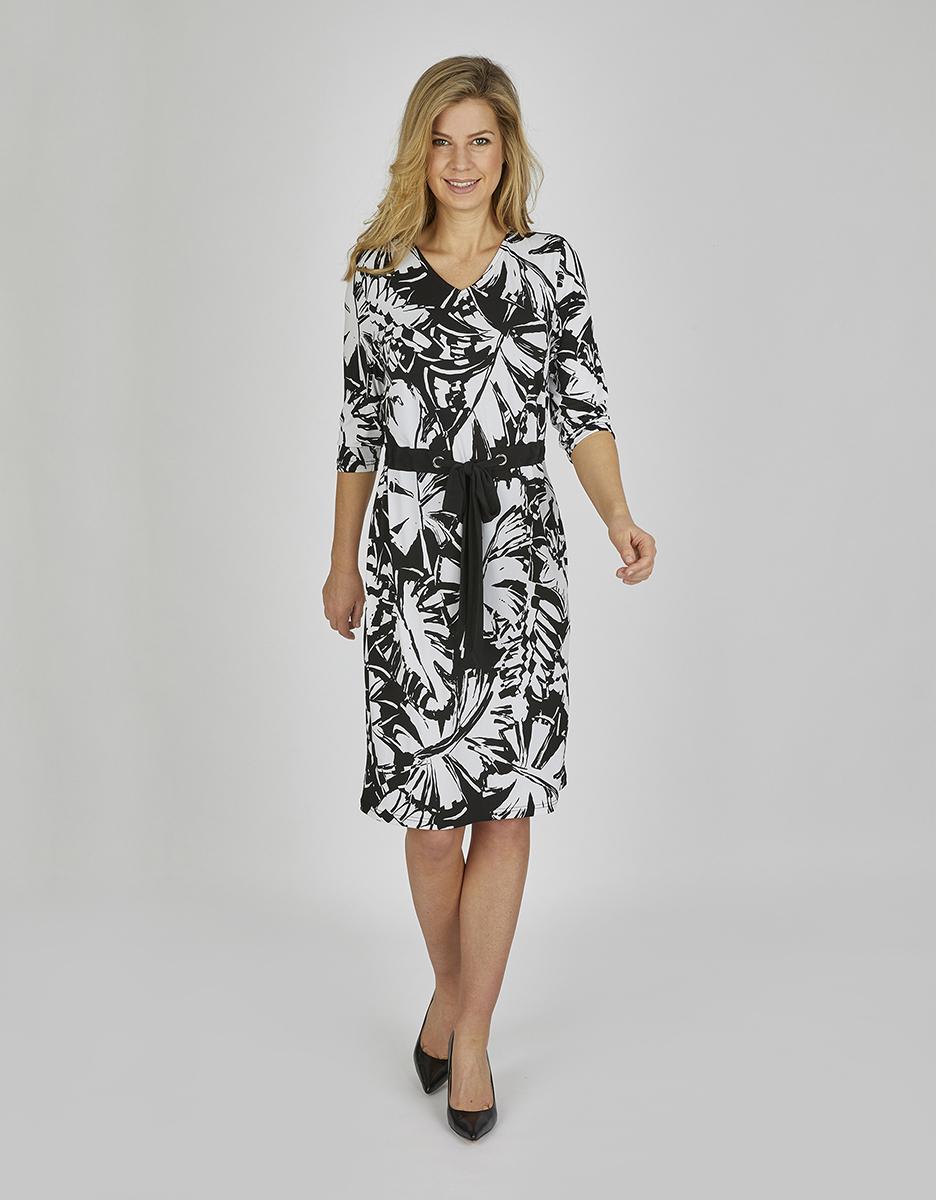 Bild 1 von Bexleys woman - Jerseykleid mit Bindeband und Allover-Druck