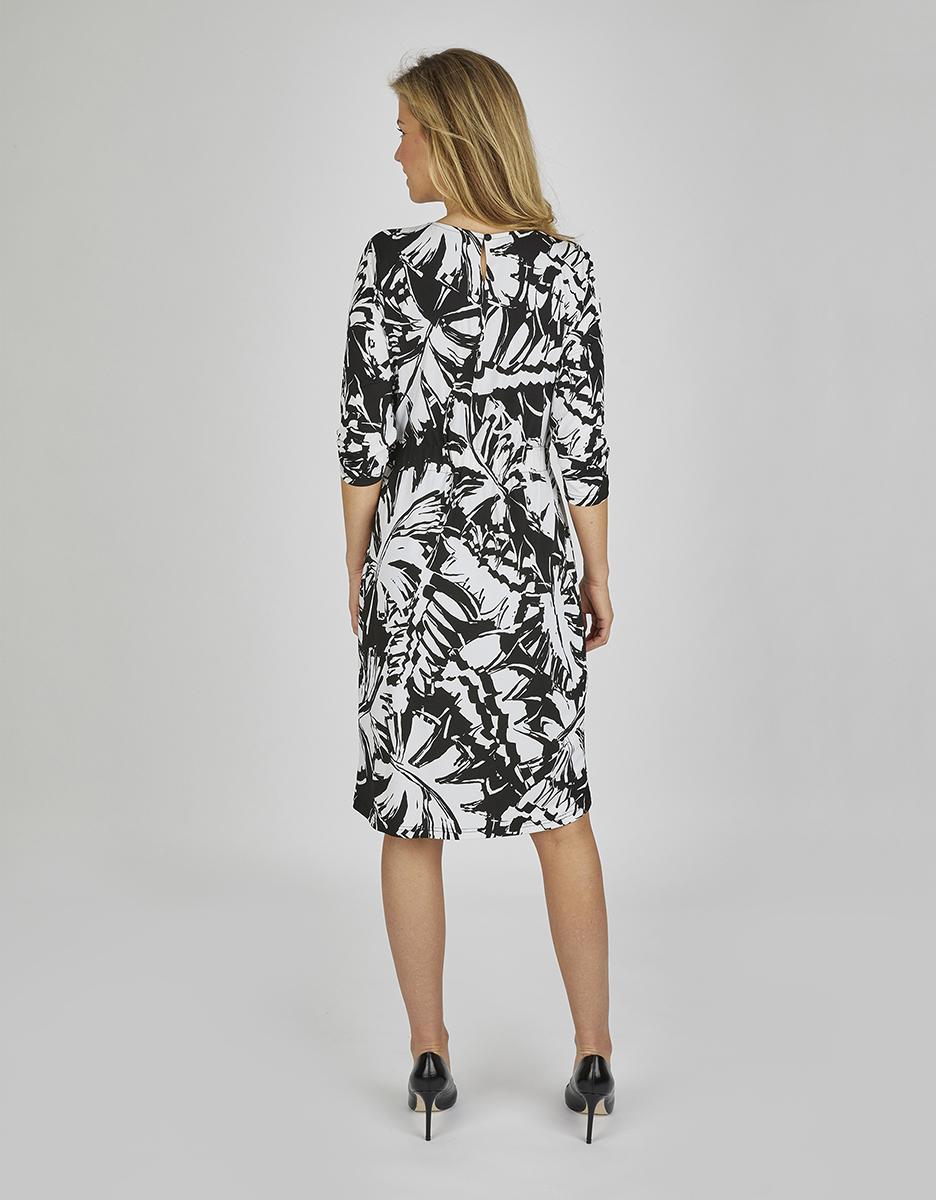 Bild 2 von Bexleys woman - Jerseykleid mit Bindeband und Allover-Druck
