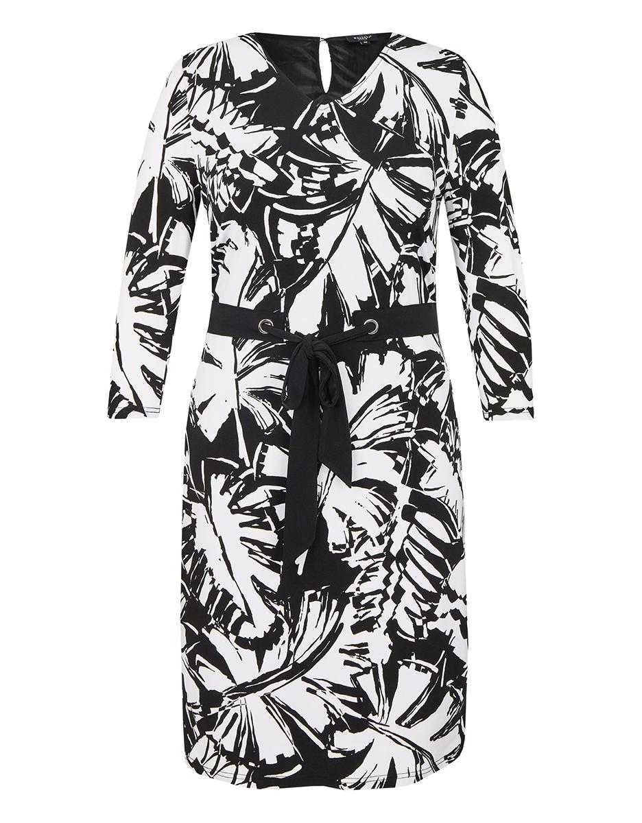 Bild 3 von Bexleys woman - Jerseykleid mit Bindeband und Allover-Druck