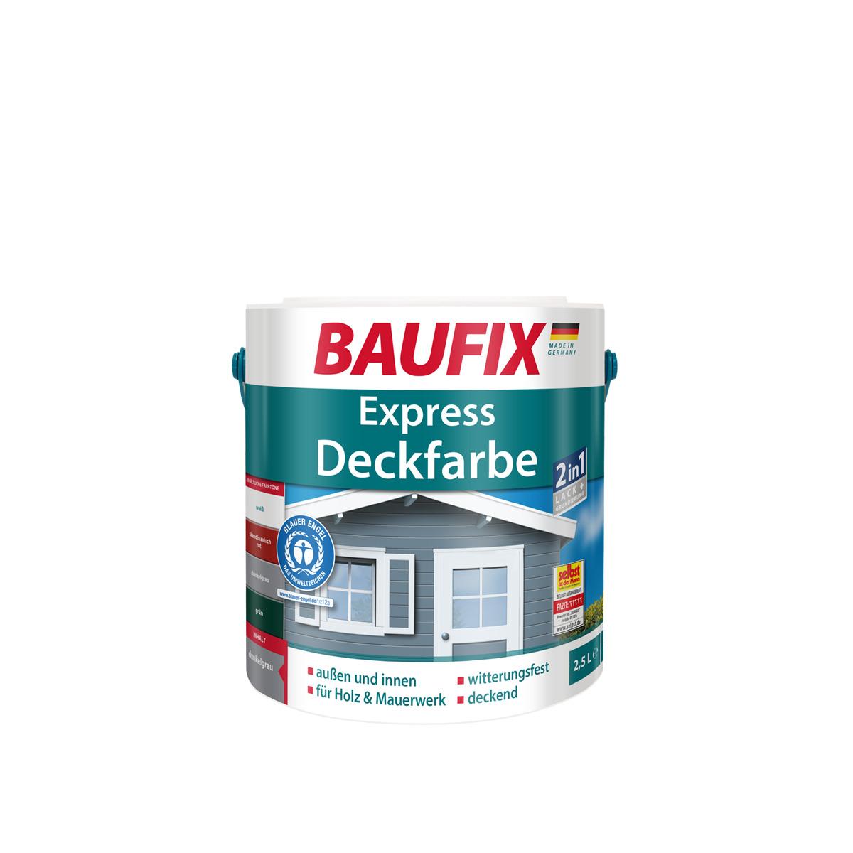 Bild 1 von BAUFIX 2in1 Express Deckfarbe dunkelgrau 2-er Set