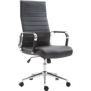 CLP Drehstuhl KOLUMBUS mit Kunstlederbezug I Chefsessel mit stufenloser Sitzhöhenverstellung I Bürosessel mit Laufrollen I In verschiedenen Farben erhältlich