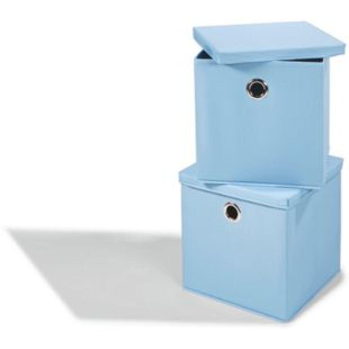 Bild 2 von Dekor Aufbewahrungsboxen, 2er Set - blau