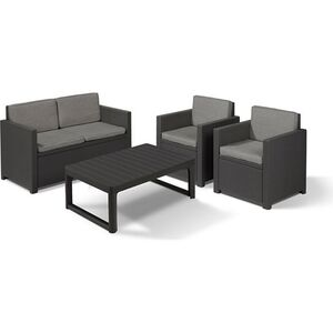Allibert Victoria Lyon Premium Lounge Set 4-teilig anthrazit