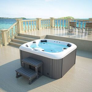 Home Deluxe Sea Star Outdoor Whirlpool inkl. Treppe und Thermoabdeckung