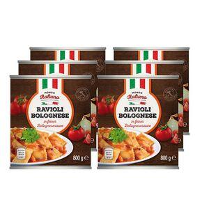 Mondo Italiano Ravioli Bolognese 800 g, 6er Pack