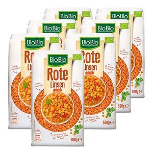 BioBio Rote Linsen 500 g, 7er Pack