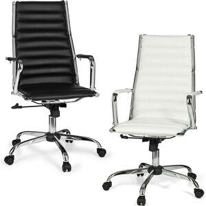 AMSTYLE Bürostuhl GENF 1 Bezug Kunstleder Schreibtischstuhl 110 kg Chefsessel höhenverstellbar Drehstuhl