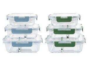 ERNESTO® Frischhaltedosen-Set, 3 Stück, spülmaschinengeeignet, aus Glas