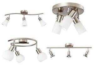 LIVARNO LUX® Deckenleuchte, mit 3 LEDs, schwenkbare Spots, Metallkorpus in Mattnickel-Optik