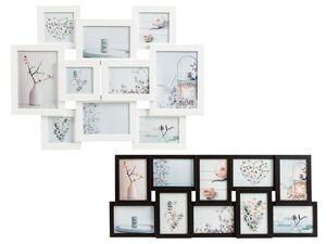 MELINERA® Collage Bilderrahmen, für 10 Bilder, mit Holzrahmen, Glasabdeckung