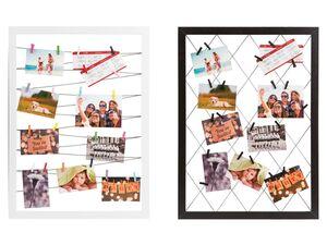 MELINERA® Fototafel, mit 20 Klammern, aus Pappelholz